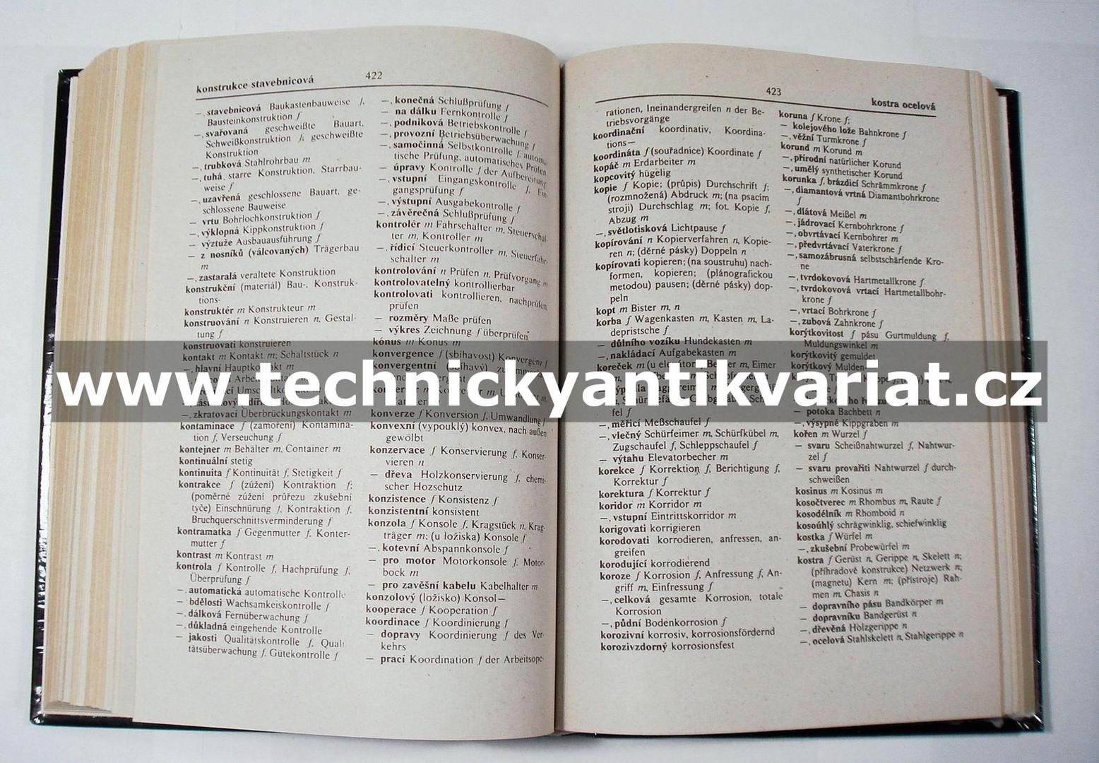 Technicky Slovnik Cesko Nemecky Nemecko Cesky Technicky