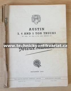 Austin 3.4 and 5 ton Truck - Service Manual (1956)